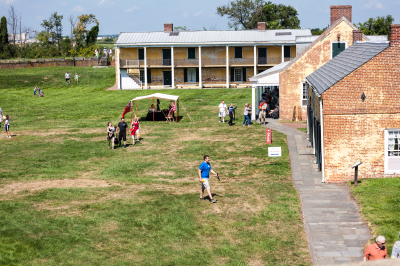 Inside Fort Mifflin on Pirate Day (8/20/16)